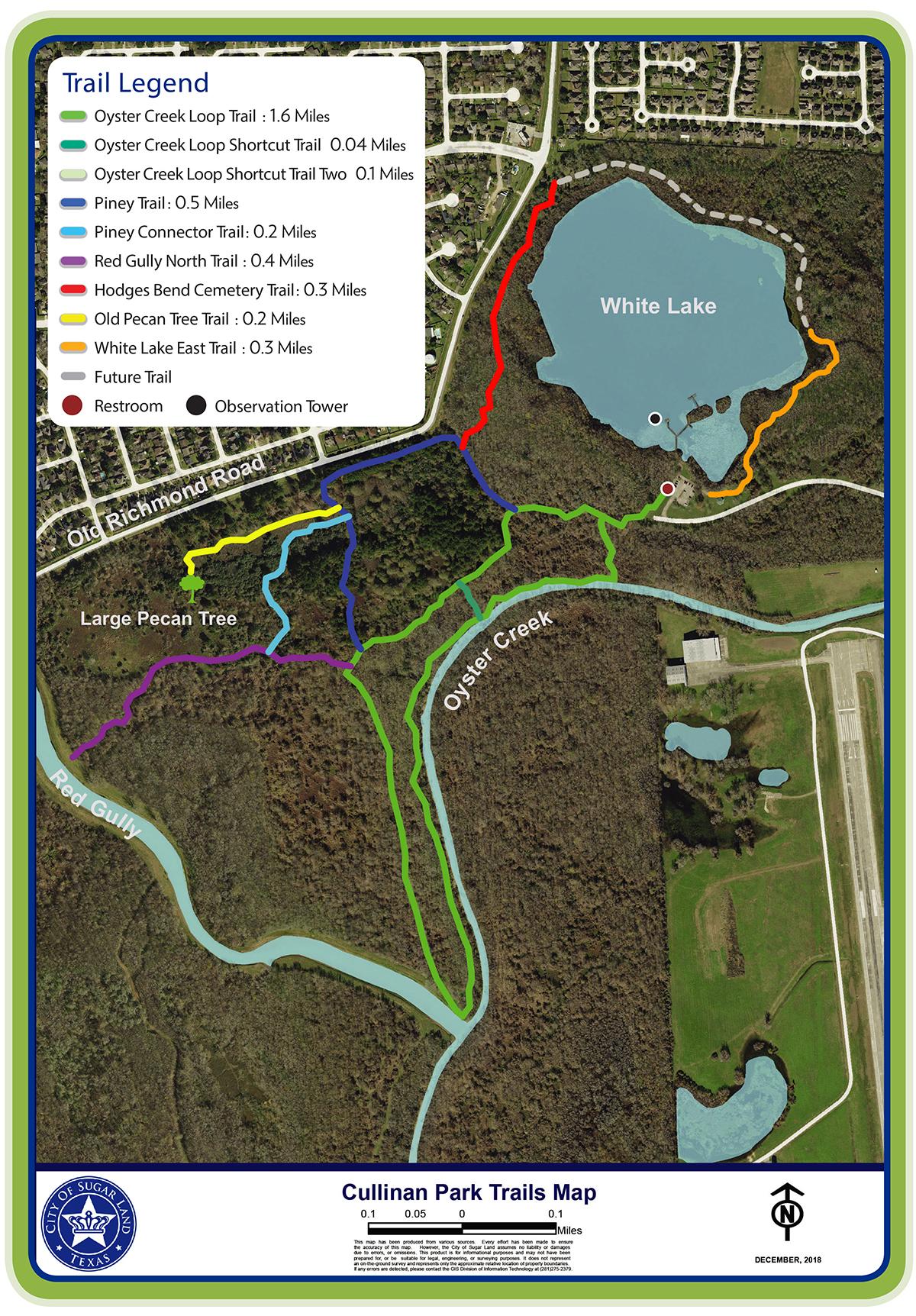 Cullinan Park Trail Map